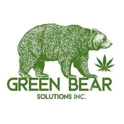 Green Bear Solutions marijuana dispensary menu