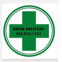 Brisk Delivery marijuana dispensary menu