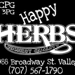 MCPG Happy Herbs Delivery Service  Fairfield marijuana dispensary menu