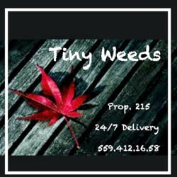 Tiny Weeds marijuana dispensary menu