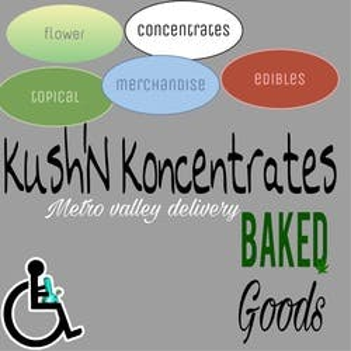 Kushn Koncentrates Mobile Delivery marijuana dispensary menu