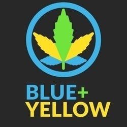 Blue  Yellow marijuana dispensary menu