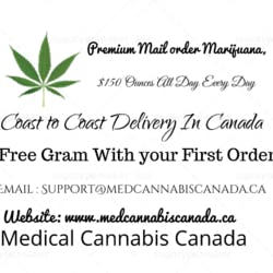 Medical Cannabis Canada marijuana dispensary menu