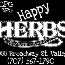MCPG Happy Herbs Delivery Service  Vacaville marijuana dispensary menu