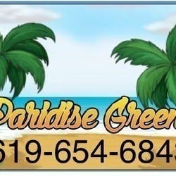 Paradise Greens Collective marijuana dispensary menu