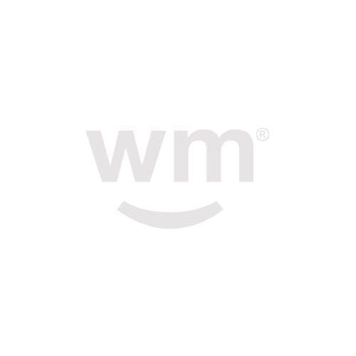 A Green Drop marijuana dispensary menu