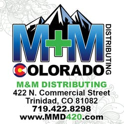 M and M Distributing marijuana dispensary menu