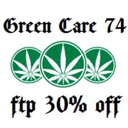Green Care 74 marijuana dispensary menu