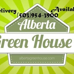 Alberta Green House marijuana dispensary menu