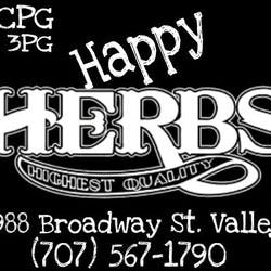 MCPG Happy Herbs marijuana dispensary menu