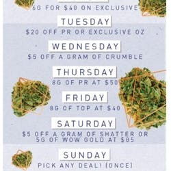 Secret Stash 25 Cap marijuana dispensary menu
