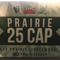 Prairie Collective 25 Cap marijuana dispensary menu