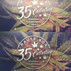 Haute Box 35 Collective marijuana dispensary menu