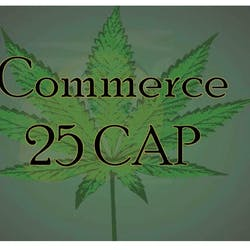 Commerce 25 CAP marijuana dispensary menu
