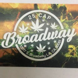 Broadway 25 Cap marijuana dispensary menu