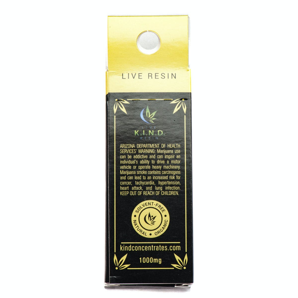 True OG INDICA Live Resin Cartridge 1000mg