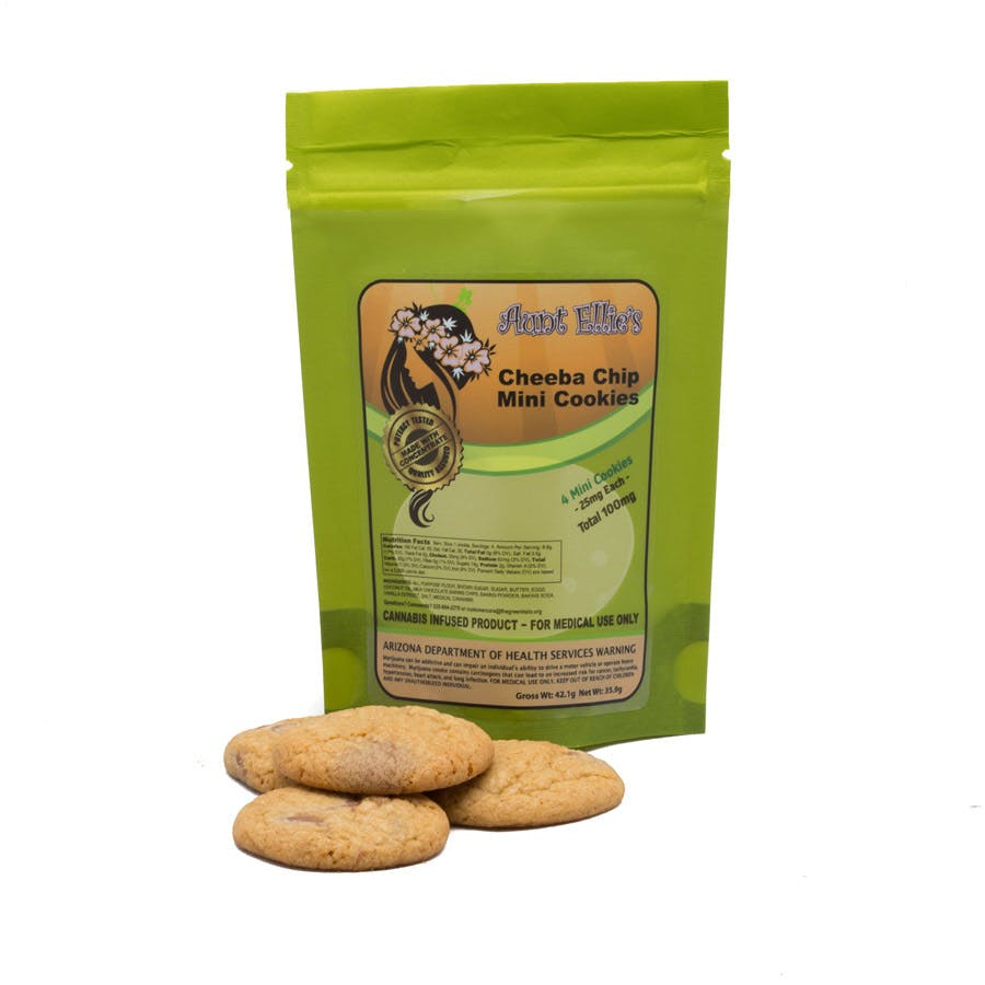 Aunt Ellie's Cheeba Chip Mini Cookies 100mg Reviews | Weedmaps