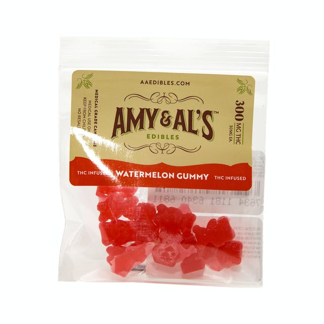 Amy and Al's Edibles Watermelon Gummies 300mg | Weedmaps