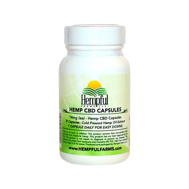 Full-Spectrum Hemp CBD Capsules 14mg
