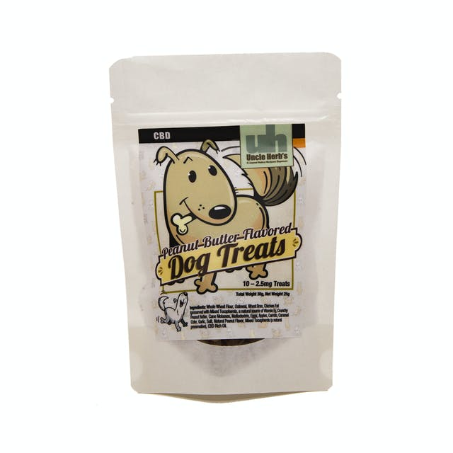 Uncle Herb's Dog Treats Peanut Butter Flavor 25mg | Weedmaps