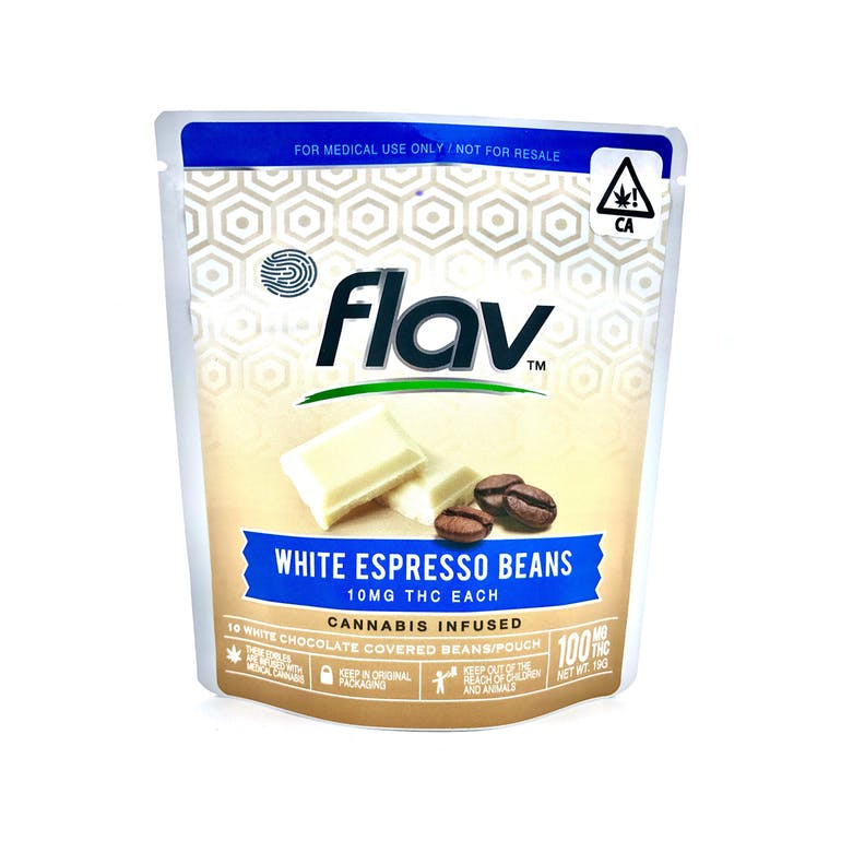 Snack Pouch White Espresso Beans 100mg Product Image