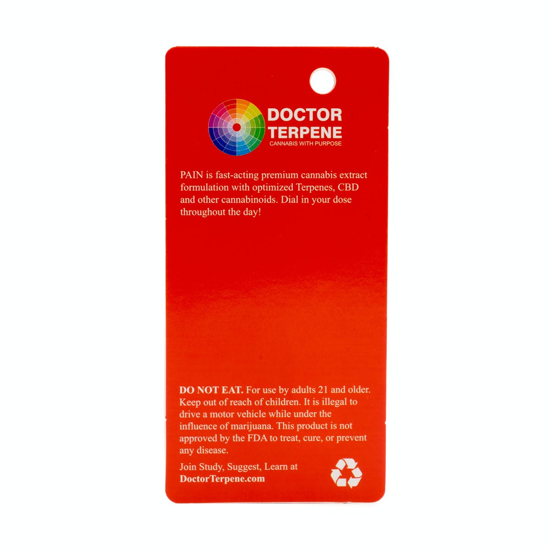 Doctor Terpene PAIN Vape Cartridge   Weedmaps
