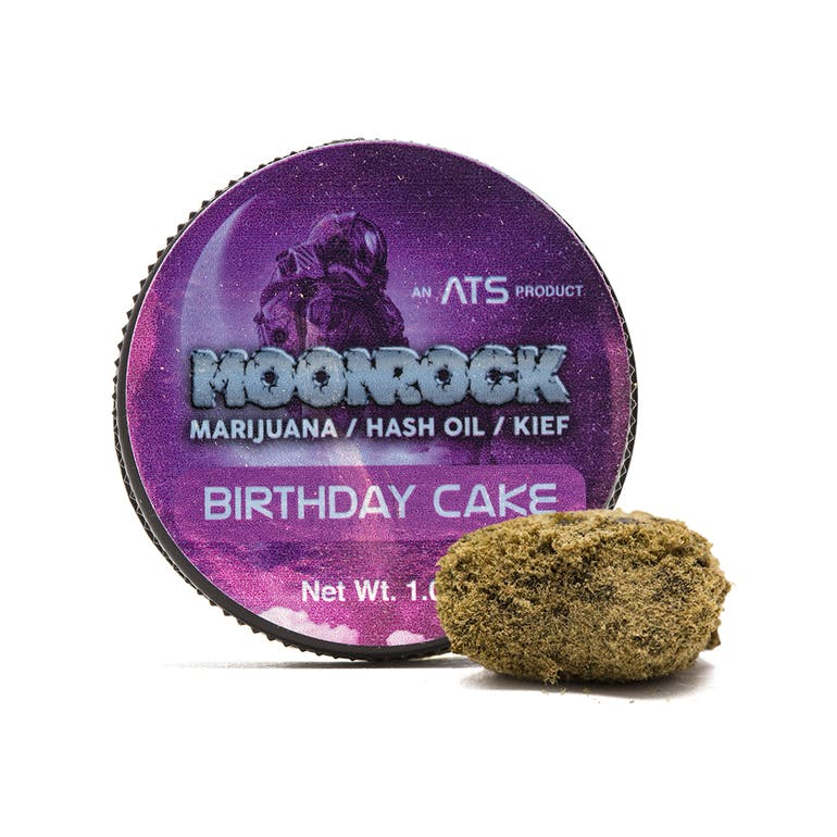 Above Top Shelf Birthday Cake Moonrocks Weedmaps