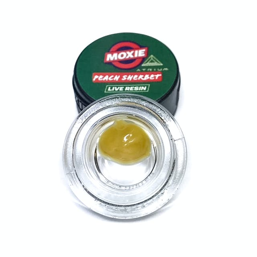 Moxie Peach Sherbet Live Resin Badder   Weedmaps