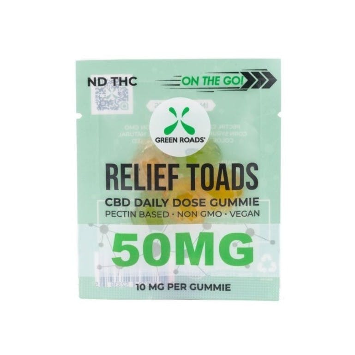 Green Roads CBD Relief Toads – 50MG | Weedmaps
