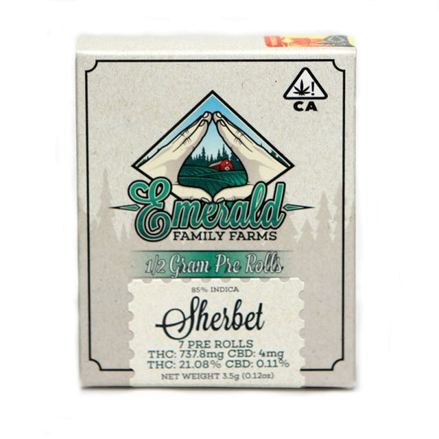 Emerald Family Farms Sherbet Pre-Roll Pack Reviews   Weedmaps