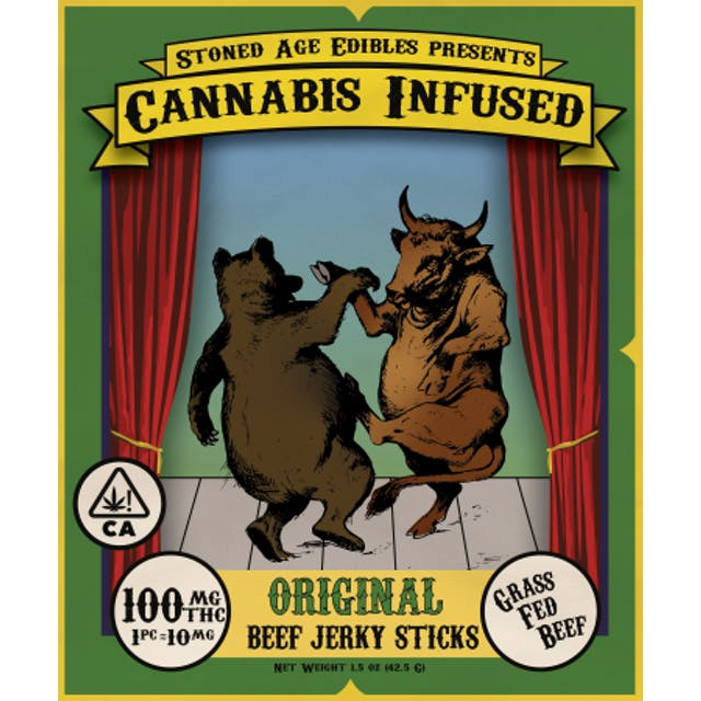 Stoned Aged Edibles Cannabis-Infused THC Jerky - Original