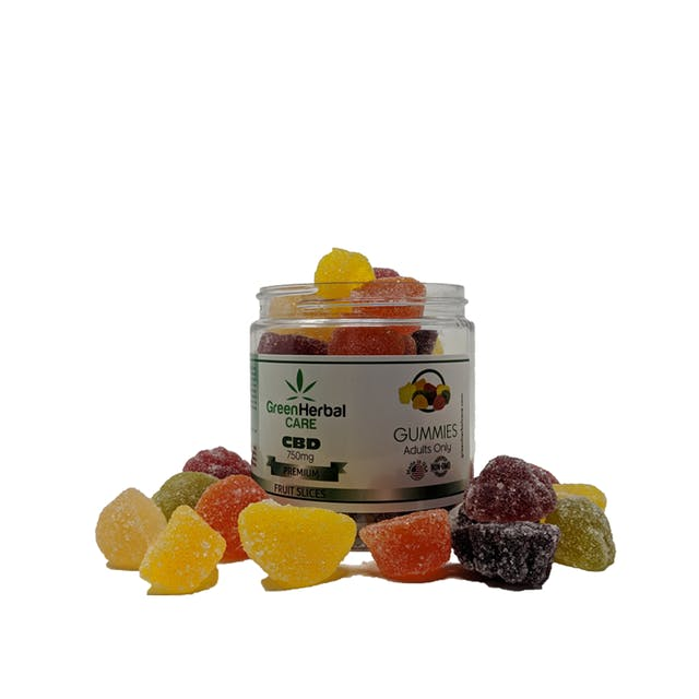Green Herbal Care CBD GHC Gummy Fruit Slices - 750mg | Weedmaps