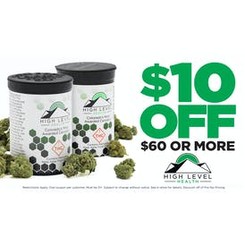 High Level Health - Colfax $10 OFF your $60 Purchase!