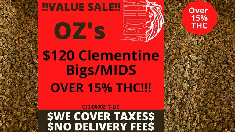 Apothek Deliveries $20 OFF OUR OZ's!! (Only $120)