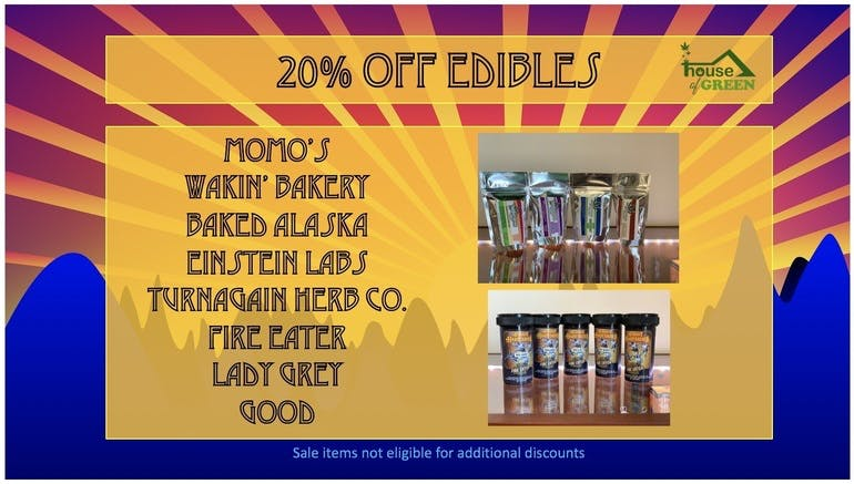 House of Green 20% off Edibles