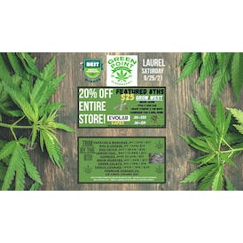 Green Point Wellness - Laurel (Newly Opened) 20% Off Store +$25 Carts & 8ths!
