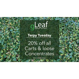 gLeaf - Frederick Terpy Tuesday - 20% Off!