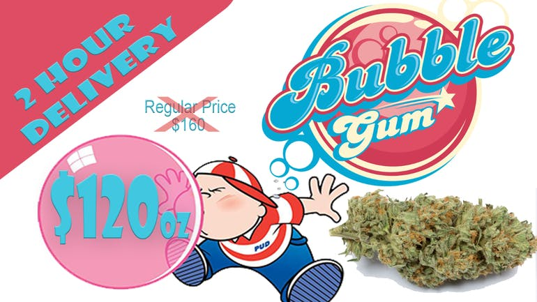 LoveWeed BUBBLE GUM SPECIAL $120 oz