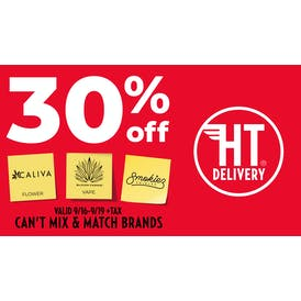 High Times Delivery 3 BRANDS - 30% OFF!