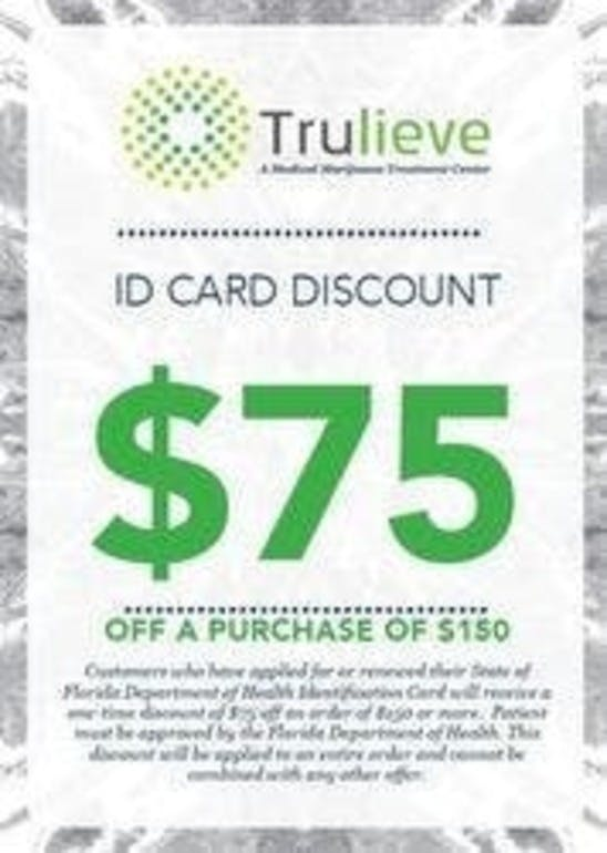 Trulieve - Palm Coast $75 off $150 or more New Patient