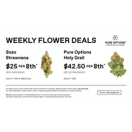 Pure Options Lansing East Weekly 8th Deals!