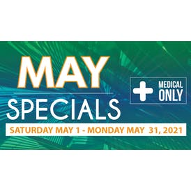 Downtown Dispensary May 2021 Specials!