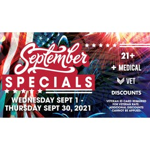 Downtown Dispensary September 2021 Specials!
