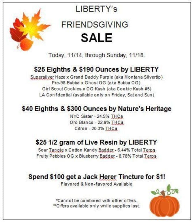 Liberty Friendsgiving Sale!! 11/14-11/18