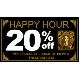 The Medicine Woman 20% OFF HAPPY HOUR!