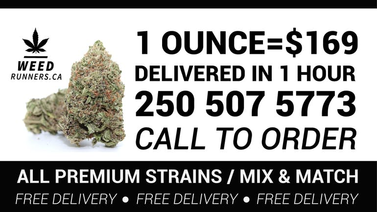 WeedRunners.ca 1 OUNCE FOR $169.00 DELIVERED.