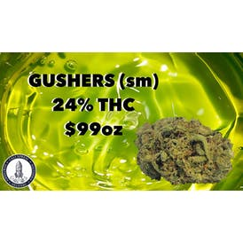 Cali Xpress GUSHERS (sm) 24%THC $99oz