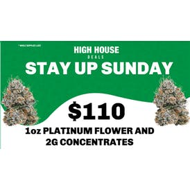 High House Dispensary in Midwest City 1oz Flower and 2g Con $110