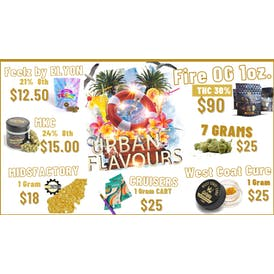 Urban Flavours Delivery- Fairfield 🏖️ $10 8ths 17% (Big Buds)