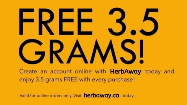 herbaway FREE 3.5g w/ Online Purchases!
